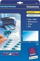 Визитки Avery «Blue Wave» для струйной и лазерной печати, 190 г/м2, 85 x 54 мм, 10 листов