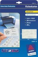 Визитки Avery «серый мрамор» для струйной и лазерной печати, 200 г/м2, 85 x 54 мм, 25 листов