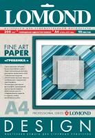 Дизайнерская бумага Lomond с тиснением «Гребенка», 200 г/м2, А4, 10 листов