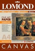 Натуральный льняной холст Lomond для водных чернил, А4, 300 г/м2, 10 листов