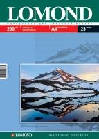 Глянцевая фотобумага Lomond для струйной печати, А4, 200 г/м2, 25 листов