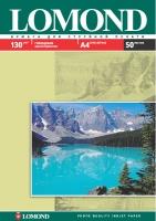 Глянцевая фотобумага Lomond для струйной печати, А4, 130 г/м2, 50 листов