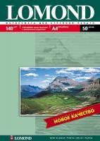 Глянцевая фотобумага Lomond для струйной печати, А4, 140 г/м2, 50 листов