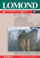 Двусторонняя Глянцевая/Глянцевая фотобумага Lomond для струйной печати, A4, 180 г/м2, 50 листов