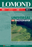 Глянцевая фотобумага Lomond для струйной печати, А4, 180 г/м2, 50 листов