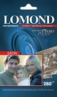 Атласная фотобумага  Lomond для струйной печати, 10х15, 280 г/м2, 20 листов