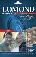 Атласная фотобумага  Lomond для струйной печати, А5, 280 г/м2, 20 листов