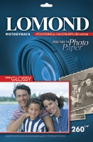 Атласная фотобумага Lomond для струйной печати, А4, 260 г/м2, 20 листов