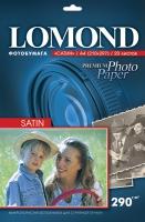 Атласная фотобумага Lomond для струйной печати, А4, 290 г/м2, 20 листов