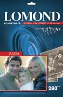 Атласная фотобумага Lomond для струйной печати, А4, 280 г/м2, 20 листов