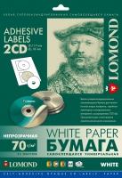 Самоклеящаяся универсальная бумага для этикеток Lomond, A4, d 117/18 мм, 70 г/м2, 25 листов
