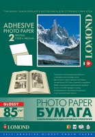 Глянцевая самоклеящаяся фотобумага Lomond, A4, 85 г/м2, 25 листов