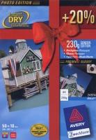 Глянцевая фотобумага Avery для струйной печати, А4, 230 г/м2, 60 листов