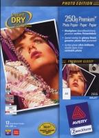 Глянцевая фотобумага Avery для струйной печати, А4, 250 г/м2, 12 листов