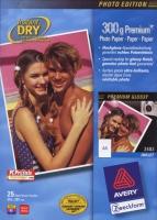 Глянцевая фотобумага Avery для струйной печати, А4, 300 г/м2, 10/25 листов