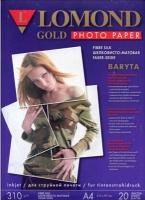 Атласная баритовая фотобумага для струйной печати, Искусственный шелк, A4, 310 г/м2, 20 листов.