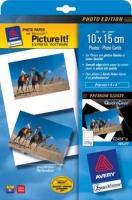 Глянцевая фотобумага Avery Quick&Clean для струйной печати, 10 х 15 см, А4, 220 г/м2, 10 листов