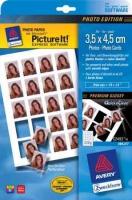 Глянцевая фотобумага Avery Quick&Clean для струйной печати, 3,5 х 4,5 см, А4, 220 г/м2, 10 листов