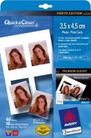 Глянцевая фотобумага Avery Quick&Clean для струйной печати, 3,5 х 4,5 см, А6, 220 г/м2, 10 листов