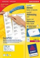 Белые адресные этикетки Avery для всех видов печати, 64 x 33,9 мм, 100 листов