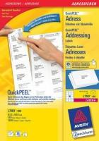Белые адресные этикетки Avery для всех видов печати, 63,5 x 46,6 мм, 100 листов