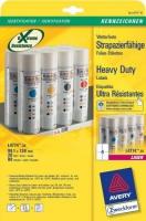Всепогодные полиэстровые этикетки Avery для лазерной печати, 4 на листе, 105 x 148 мм