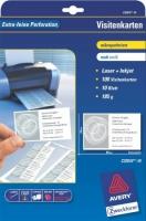 Белые визитки Avery для струйной и лазерной печати, 185 г/м2, 85 x 54 мм, 10 листов