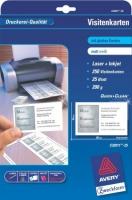 Белые визитки Avery для струйной и лазерной печати, 200 г/м2, 85 x 54 мм, 25 листов
