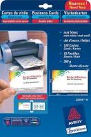 Белые двухсторонние визитки Avery для струйной печати, 260 г/м2, 85 x 54 мм, 15 листов