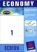 Универсальные этикетки Avery, 1 на листе, 210x297мм, голубые