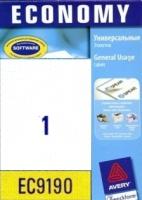 Универсальные этикетки Avery, 1 на листе, 210x297мм, желтые