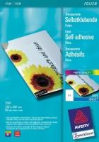 Прозрачная самоклеящаяся пленка Avery для струйной печати, A4, 0,17 мм, 50 листов