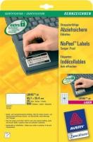 Саморазрушающиеся этикетки Avery для лазерной печати, 40 на листе, 45,7 x 25,4 мм