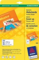 Корректирующие этикетки Avery для всех видов печати, 24 на листе, 64,6 x 33,8 мм