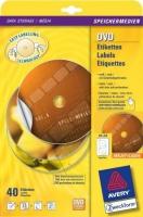Универсальные этикетки Avery для CD, d 117 мм, супер-размер, 20 листов