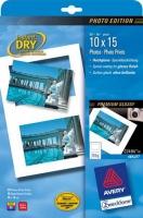 Глянцевая фотобумага Avery Quick&Clean для струйной печати, 10 х 15 см, А4, 185 г/м2, 10 листов