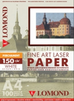 Арт-бумага Lomond «Пергамент» для лазерной печати, А4, 150 г/м2, 100 листов, белый цвет